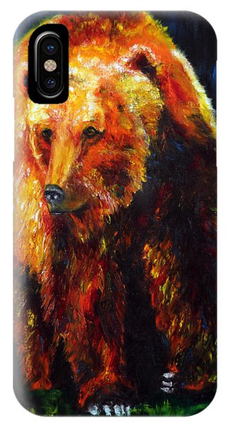 Kobuk's Domain Contemporary Bear Painting IPhone Case