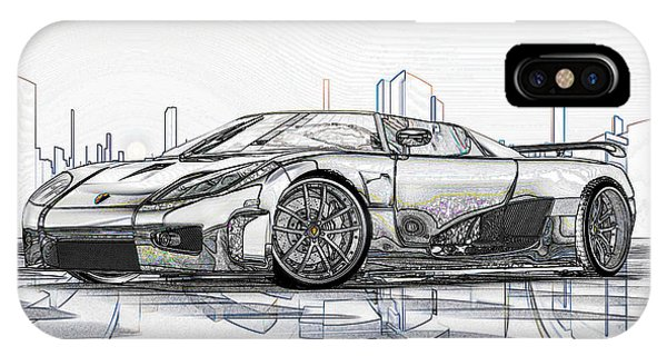 Koenigsegg Ccx Sketch  IPhone Case