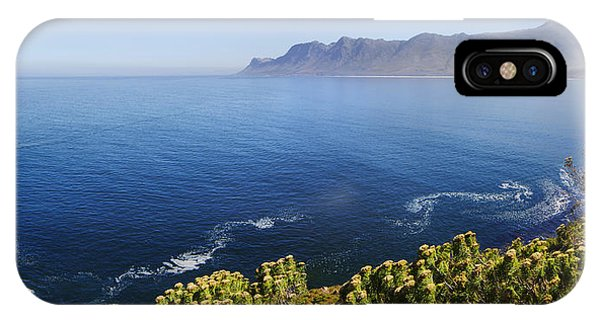 View Point iPhone Case - Kogelberg Area View Over Ocean by Johan Swanepoel