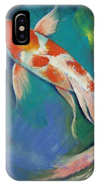 Kohaku Butterfly Koi IPhone Case