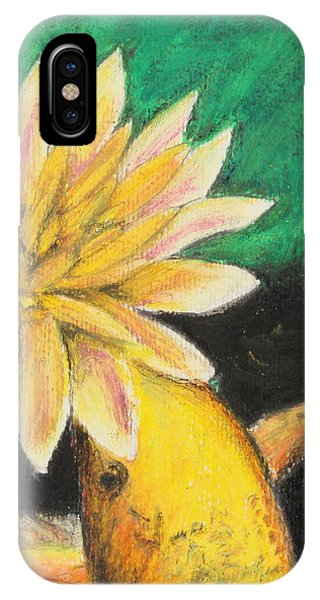 Lillie iPhone Case - Koi And The Lotus Flower by Jeanne Fischer