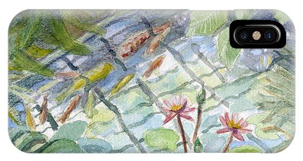 Koi Carp And Waterlilies. IPhone Case