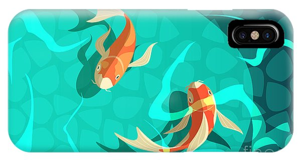 Ornamental iPhone Case - Koi Carp Japanese  Symbol Of Luck by Macrovector
