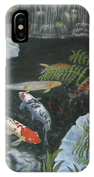 IPhone Case featuring the painting Koi Fish by Karen Zuk Rosenblatt
