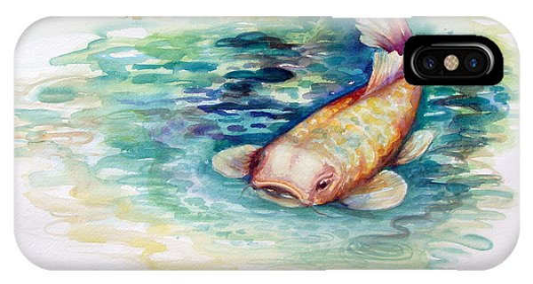 IPhone Case featuring the painting Koi I by Ashley Kujan