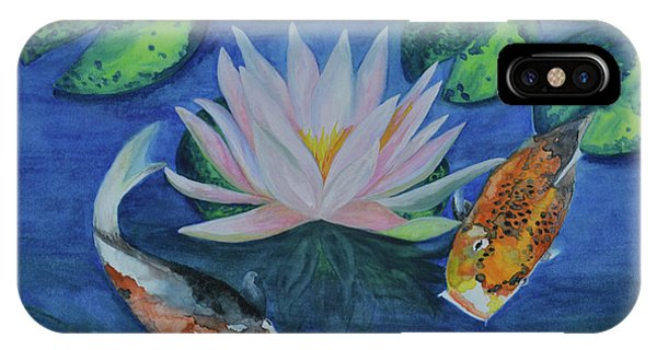 Koi In The Lily Pond IPhone Case