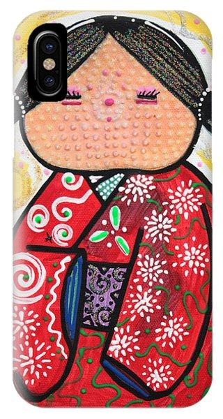 Kokeshi Phone Case by Laura Barbosa