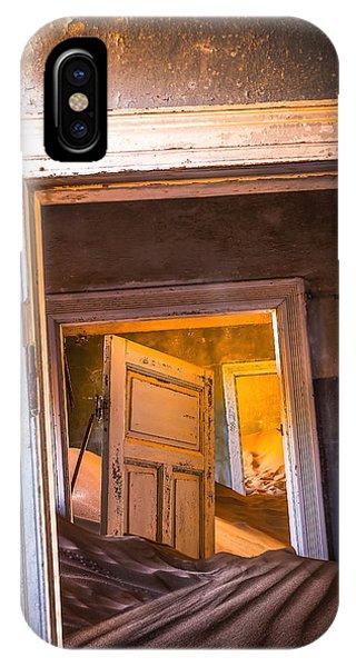Town iPhone Case - Kolmanskop - Blue Room by Xenia Ivanoff-erb