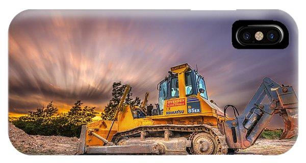 Komatsu Bulldozer IPhone Case