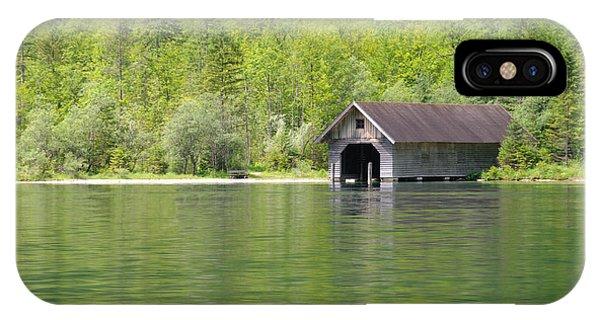 Konigsee Boathouse IPhone Case