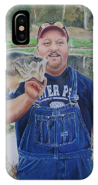 My Son iPhone Case - Korey Love Fishing by Charlotte Hastings