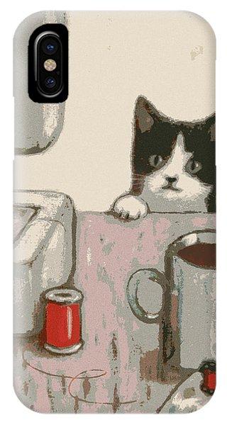 Crafty Cat #2 IPhone Case