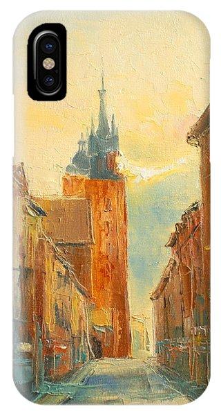 Krakow Florianska Street IPhone Case