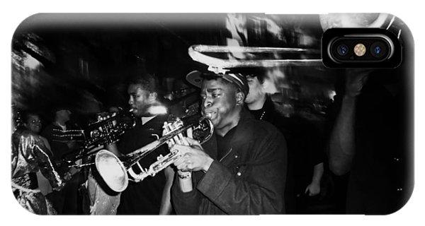 Krewe Du Vieux Parade Brass Band IPhone Case