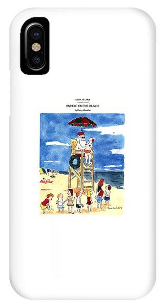Kringle On The Beach IPhone Case