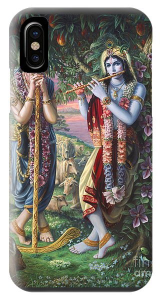 Krishna And Balaram  IPhone Case