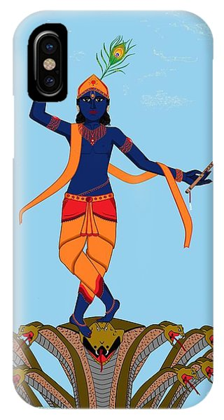 Krishna Dancing On Kaliya IPhone Case