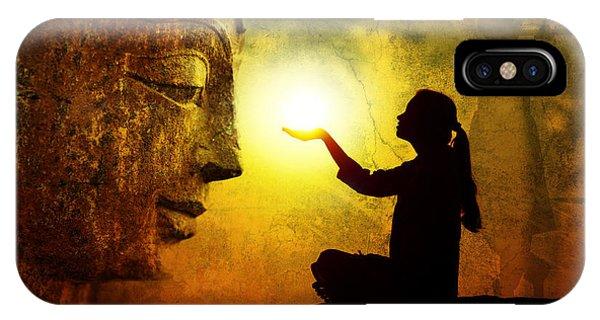 Divine Love iPhone Case - Krishna Devotion by Tim Gainey