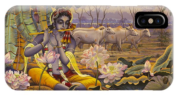 Krishna. Evening Flute IPhone Case
