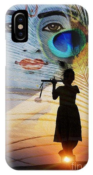 Divine Love iPhone Case - Krishna Jai by Tim Gainey