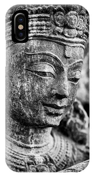 Divine Love iPhone Case - Krishna Monochrome by Tim Gainey