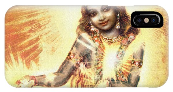 Krishna Vision In The Clouds IPhone Case
