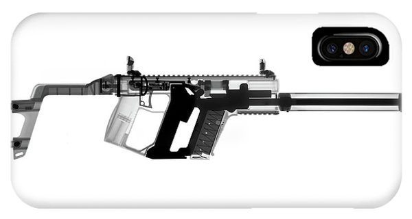 Calico M100 iPhone Case - Kriss Vector X-ray Photograph by Ray Gunz