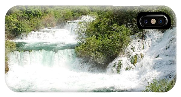 Krka Waterfalls Croatia IPhone Case