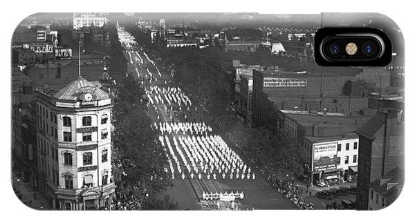 Capitol Building iPhone Case - Ku Klux Klan Parade by Harris & Ewing