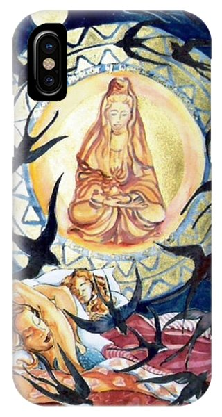 Kuan Yin  Born From A Ray Of Light  Phone Case by Trudi Doyle