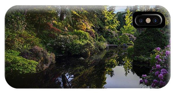 Golden Gardens iPhone Case - Kubota Pool Serenity by Mike Reid
