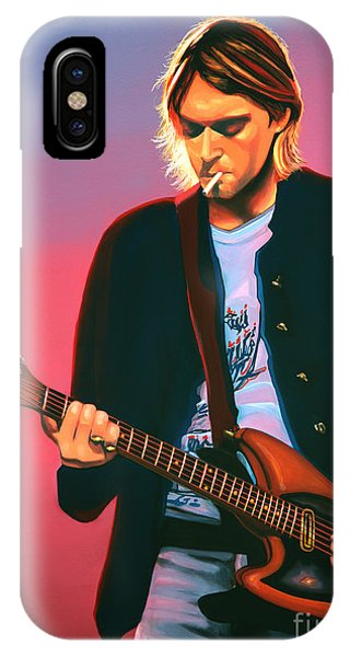 Rights iPhone Case - Kurt Cobain In Nirvana Painting by Paul Meijering