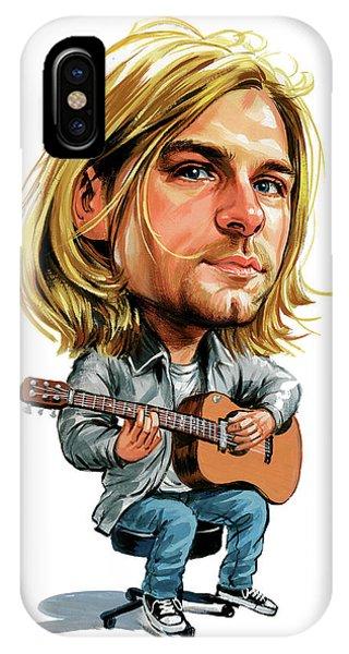 Kurt Cobain Phone Case by Art
