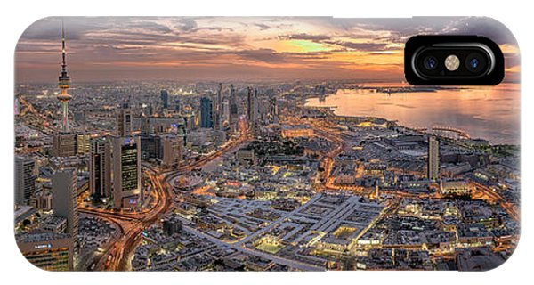 Panorama iPhone Case - Kuwait City by Ahmad Al Saffar