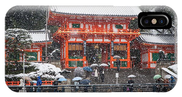 Kyoto Snowfall IPhone Case