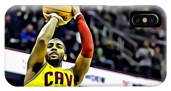 Kyrie Irving iPhone Case - Kyrie Irving Jumpshot by Florian Rodarte