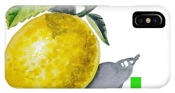 Lemon iPhone Case - L Art Alphabet For Kids Room by Irina Sztukowski