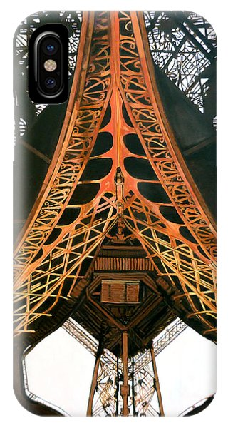 IPhone Case featuring the painting La Dame De Fer by Tom Roderick