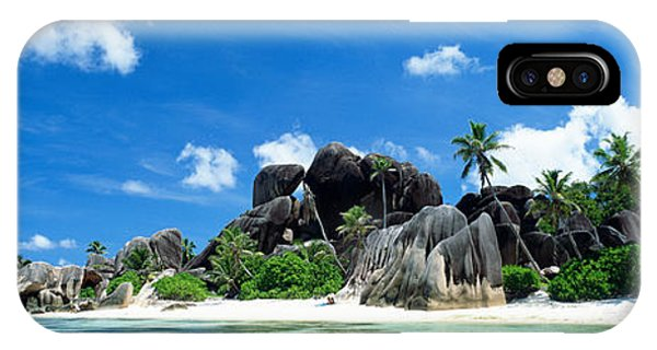 Oceanfront iPhone Case - La Digue Seychelles by Panoramic Images