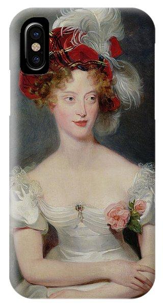 La Duchesse De Berry 1798-1870 C.1825 Oil On Canvas IPhone Case