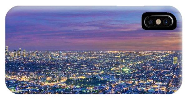 La Fiery Sunset Cityscape Skyline IPhone Case