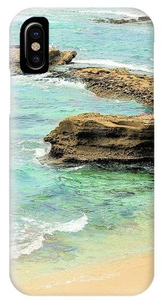 La Jolla Beach Rocks IPhone Case