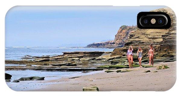 La Jolla Beach Walk IPhone Case