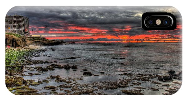 IPhone Case featuring the photograph La Jolla Cove Sunset by Nathan Rupert