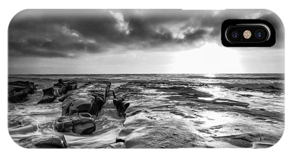 La Jolla In Black And White IPhone Case