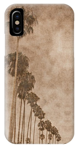 La Jolla Palm Trees IPhone Case