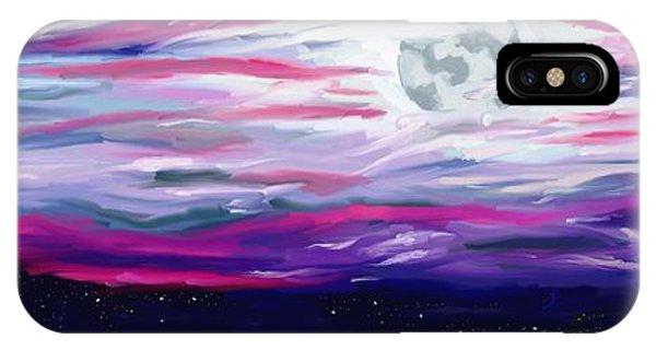 Luminous Body iPhone Case - La Luna 5 by Jeanne Fischer