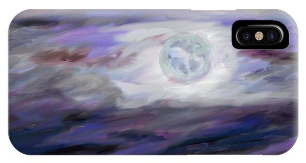 Luminous Body iPhone Case - La Luna by Jeanne Fischer
