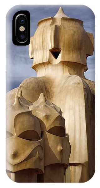 Surrealistic iPhone Case - La Pedrera Rooftop by Joan Carroll