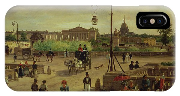 Concorde iPhone Case - La Place De La Concorde by Giuseppe Canella